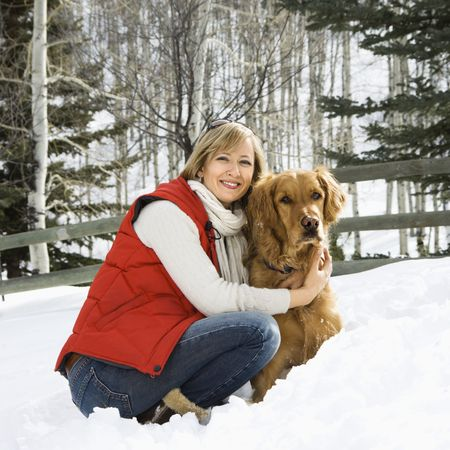 Woman with dog. photo