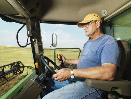 Farmer in combine. photo