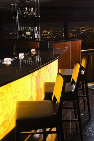 Interior shot of bar at the Tower of the Americas in San Antonio, Texas. Stock Photo - 1869045