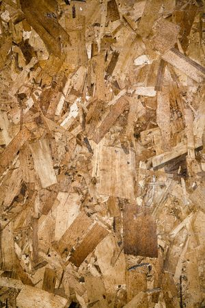 Close up shot of particleboard. photo