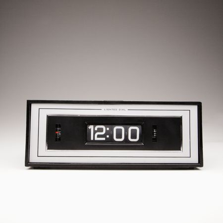 Retro clock set for 12:00. Stock Photo - 1906628