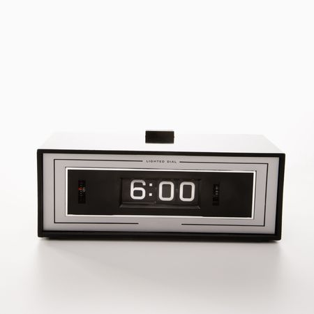 Retro clock set for 6:00. Stock Photo - 1906268