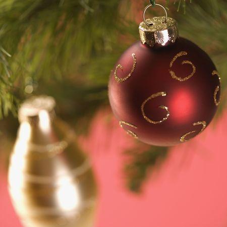 Christmas tree ornaments. photo
