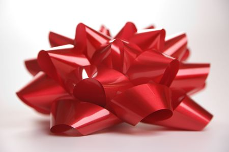 Still life of big red Christmas bow. Stock Photo - 1906281