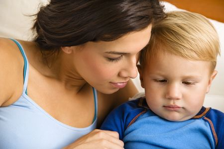 Caucasian mom with toddler son. Stock Photo - 1964066
