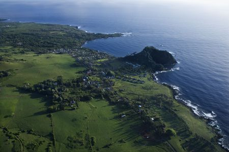 Aerial view of coastal landscape of Maui, Hawaii. photo