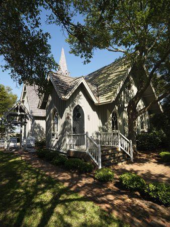 bald head island: Chapel in trees at Bald Head Island, North Carolina.