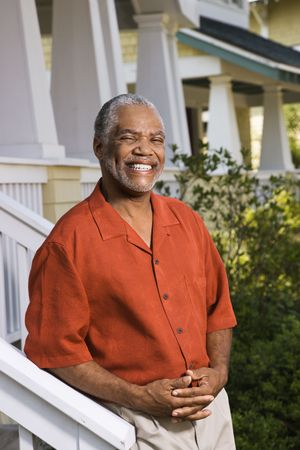 African American middle aged man smiling at viewer. Stock Photo - 2044347