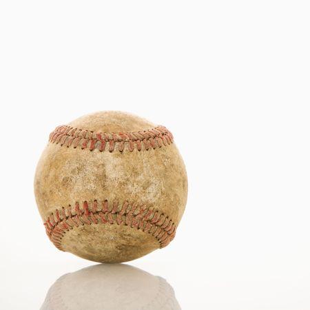 Dirty worn baseball. Stock Photo - 2043810