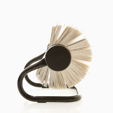 rolodex: Side view of rolodex.