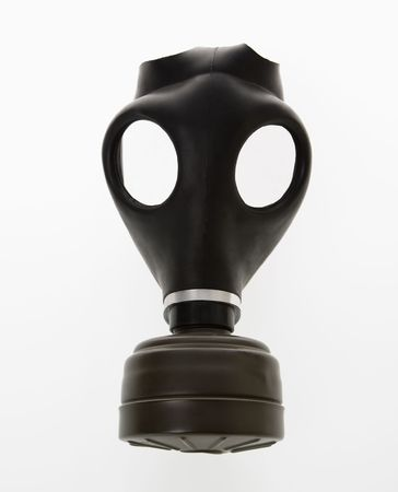 Black gas mask. Stock Photo