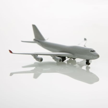 Miniature model commuter jet airplane. photo