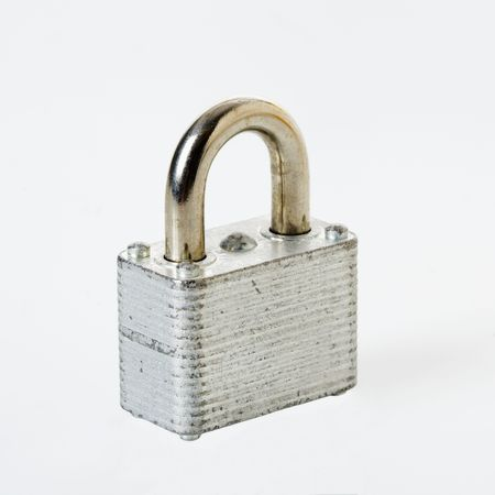 locked: Metal locked padlock.