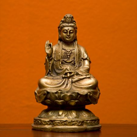 taoist: Hindu statue of Kuan Eim, Goddess of mercy and compassion.