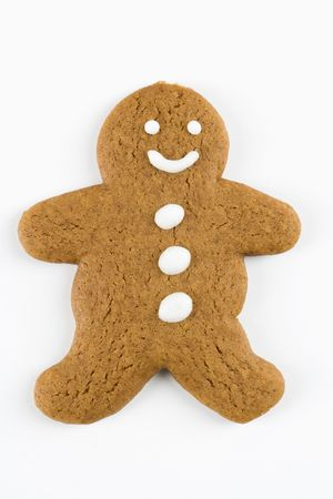 gingerbread man: Gingerbread man cookie. Stock Photo