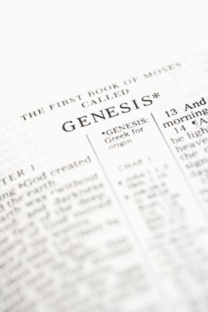 doctrine: Selective focus of Genesis verses in open Holy Bible.