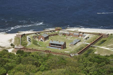 fortress: Aerial view of Fort Clinch, Flordia.