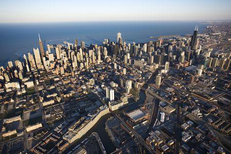 Aerial view of Chicago, Illinois. Stock Photo - 2095249