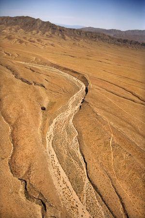 Aerial of desert landscape in Arizona, USA. photo