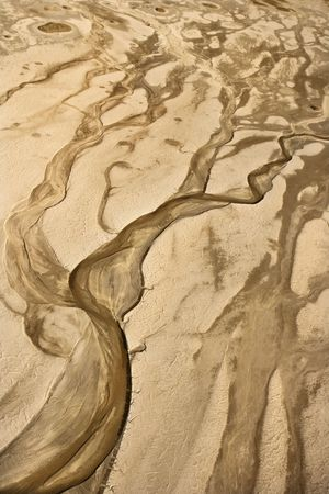 owens valley: Aerial of desert landscape in Owens Valley, California, USA.