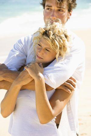 Couple embracing on Maui, Hawaii beach. Stock Photo - 2115294