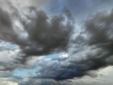 natural moody: Cloud formations in sky. Stock Photo