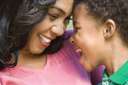 Close up of happy smiling mother and young son. Stock Photo - 2115320