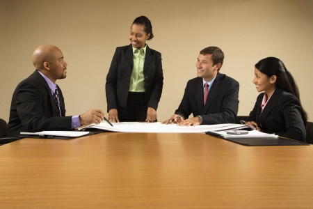Businesspeople having meeting at conference table. Stock Photo - 2104802