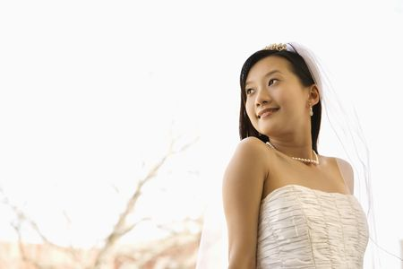 Portrait of an Asian bride. Stock Photo - 2144854