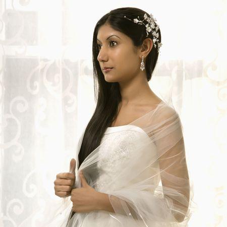 indian bride: Portrait of an Indian bride.