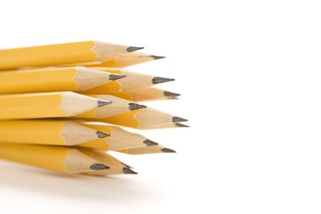 Group of sharp pencils. photo