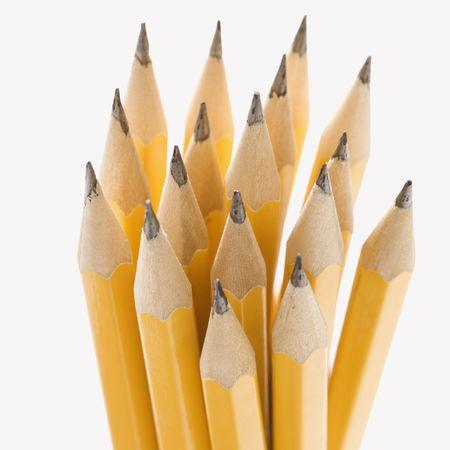 Group of sharp pencils. photo