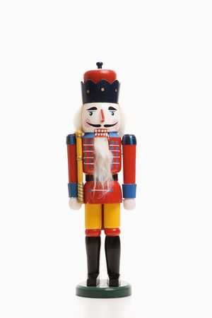 customs and celebrations: Still life of Christmas toy soldier.