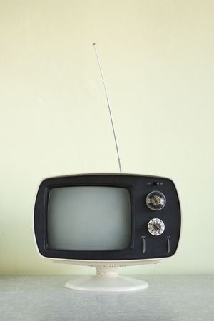 Still life of vintage television set with antenna raised. Stock Photo - 2167867