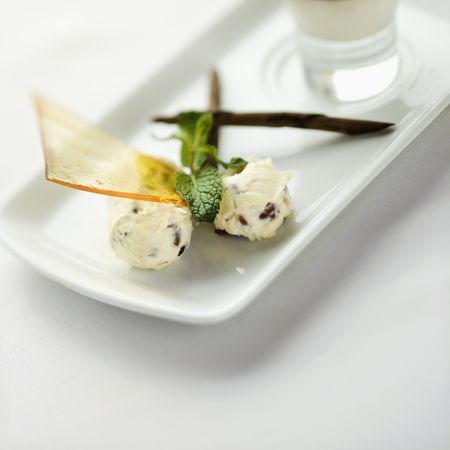 Still life of gourmet dessert with professional presentation. Stock Photo - 2167756