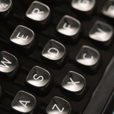 Cerca de palancas tipo m�quina de escribir en el teclado.  Foto de archivo - 2167982