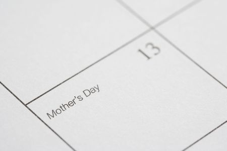 Close up of calendar displaying Mothers Day. Stock Photo - 2188184