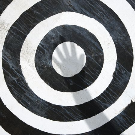 Black and white bullseye target. photo