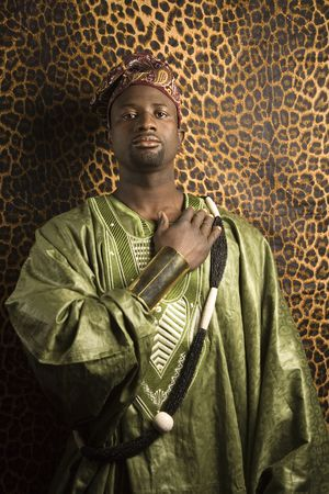 Portrait of African- American mid-adult man wearing traditional African clothing. Stock Photo - 2219855