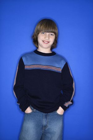 Portrait of Caucasian boy with hands in pockets. Stock Photo - 2219805