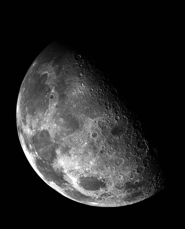 Moon in outer space. photo