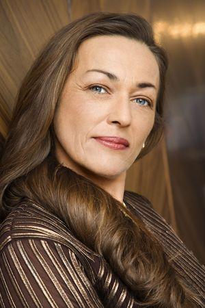 prime adult: Portrait of prime adult Caucasian female.