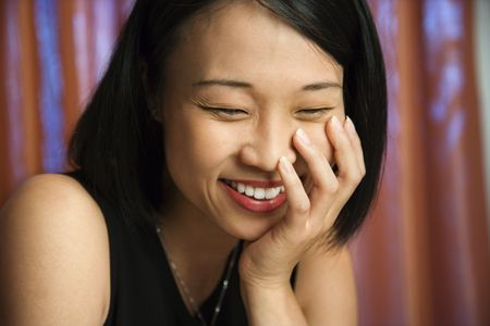 prime adult: Prime adult Asian female portrait. Stock Photo