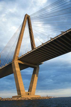 carolina del sur: Cooper River Bridge en Charleston, Carolina del Sur.