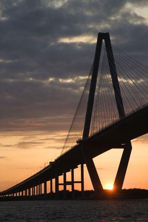 Cooper River Bridge in Charleston, South Carolina. photo