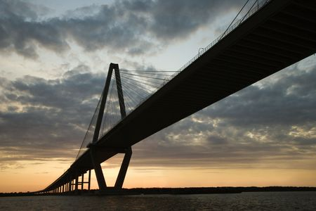 cooper: Cooper River Bridge in Charleston. Stock Photo