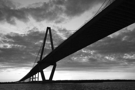 Cooper River Bridge in Charleston. Stock Photo