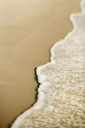Sandy beach with waves. Stock Photo - 2231629