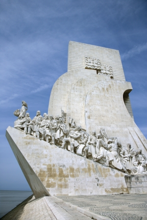 discoveries: Monument to the Discoveries in Lisbon, Portugal.