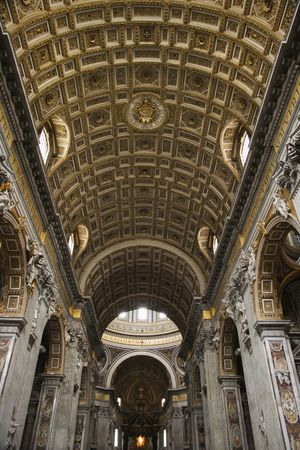Interior of St. Peter's Basilica in Rome, Italy. Stock Photo - 2235234